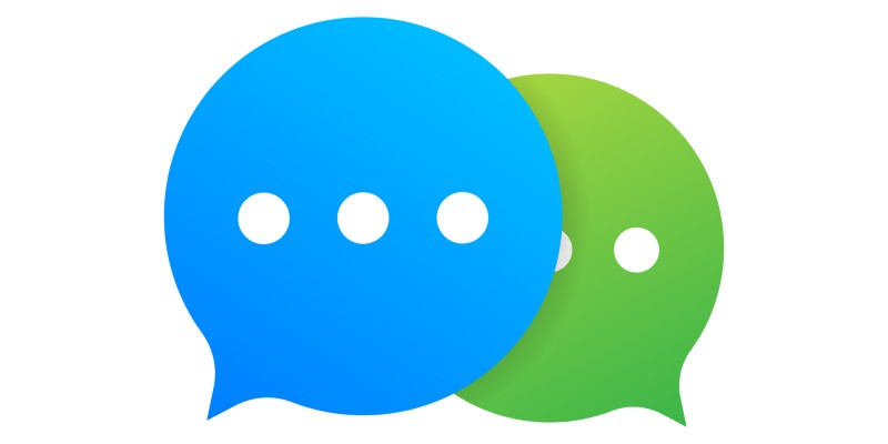 Virtual speech bubbles overlap to indicate online discussion