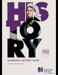 Front cover of autumn/winter 2019 issue of Nursing History Now magazine