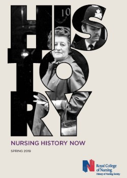 Front cover of Nursing History Now magazine, Spring 2019