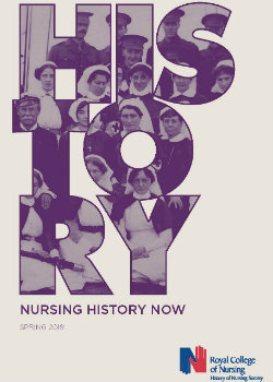 Nursing History Now publication cover Spring 2018