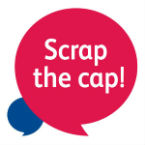 Scrap the cap logo