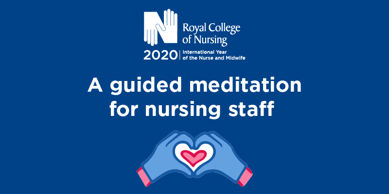 A guided meditation for nursing staff