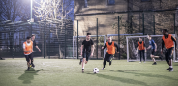 Social prescribing men playing football