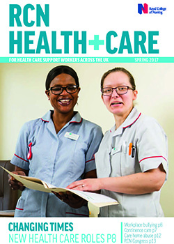 Front cover of spring 2017 issue of RCN Health+Care