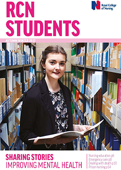 Front cover of winter 2017 issue of RCN Students