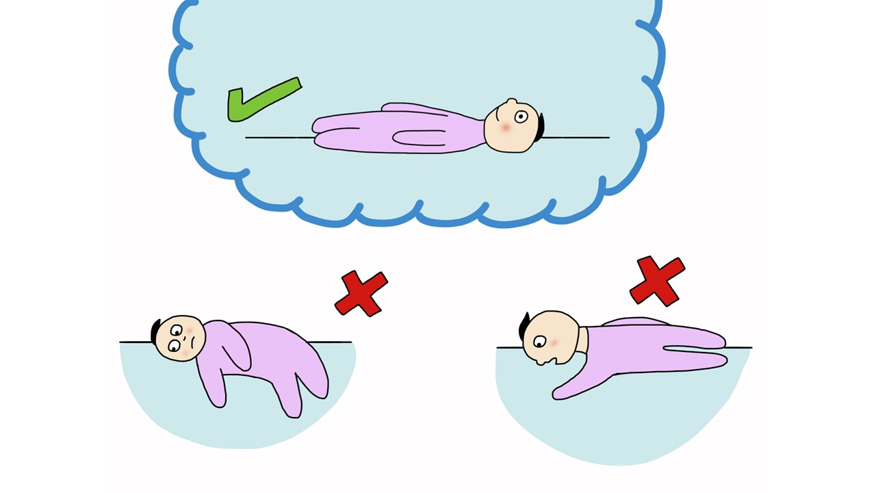 three illustrations how to place a baby