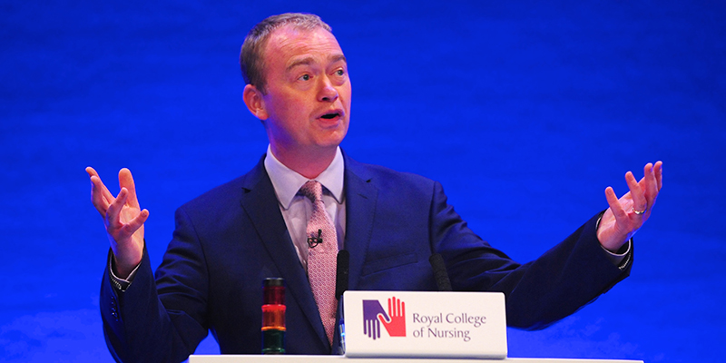 Tim Farron addresses RCN Congress 2017