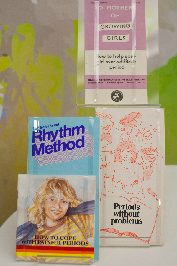 Advice pamphlets for periods and contraception 1950s and 1960s RCN Archive. Photo credit: Justine Desmond.