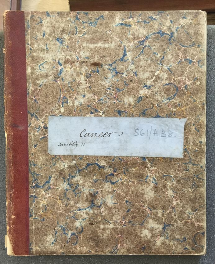 Robert Barnes' notebook on cancers in women, 1859. Research notes and illustrations compiled by gynaecologist Robert Barnes, including urogenital and breast cancers. Loaned from the Royal College of Obstetricians and Gynaecologists.