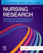 LoBiondo-Wood G and Haber J (2018) Nursing research: methods and critical appraisal for evidence-based practice (9th edition), St Louis: Elsevier.