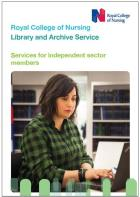 Leaflet - RCN Library and Archive Service: Services for independent sector members