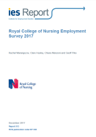 Marangozov, R., Huxley, C., Manzoni, C. and Pike, G. (2017) Royal College of Nursing employment survey 2017, Brighton: Institute for Employment Studies.