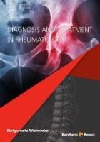 Book cover for Wislowska M (2018) Diagnosis and Treatment in Rheumatology. Bentham Science Publishers: Sharjah.