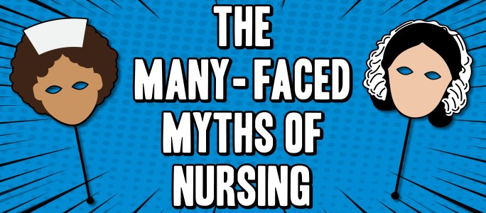 Many faced myths of nursing exhibition graphic