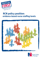 RCN policy position: evidence-based nurse staffing levels