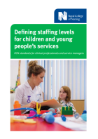 Defining staffing levels for children and young people