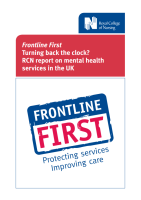 Frontline First Turning back the clock?: RCN report on mental health services in the UK