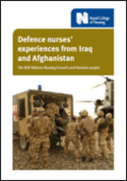Defence nurses' experiences from Iraq and Afghanistan