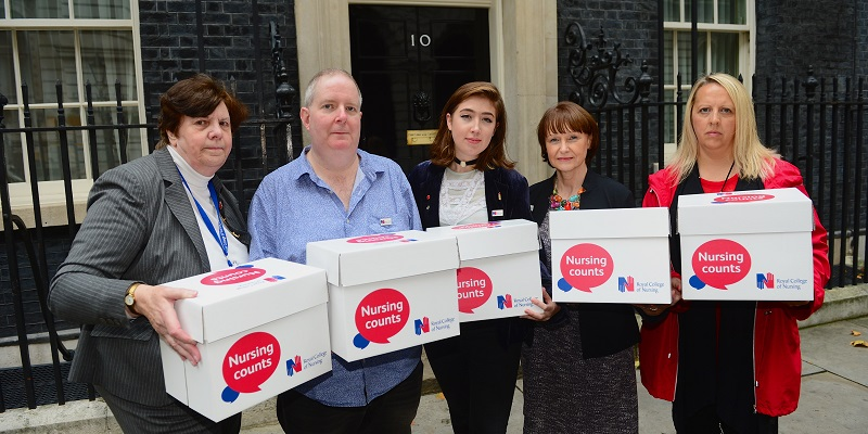 Scrap the cap petition being handed in at Downing Street