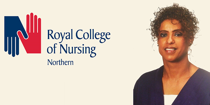 Roaqah Shaher, Chair of staff side at South Tees Hospitals NHS Foundation Trust and RCN Northern region representative