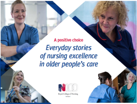 RCN Scotland publication showcasing older people