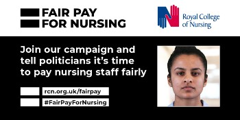 Fair pay for nursing campaign logo
