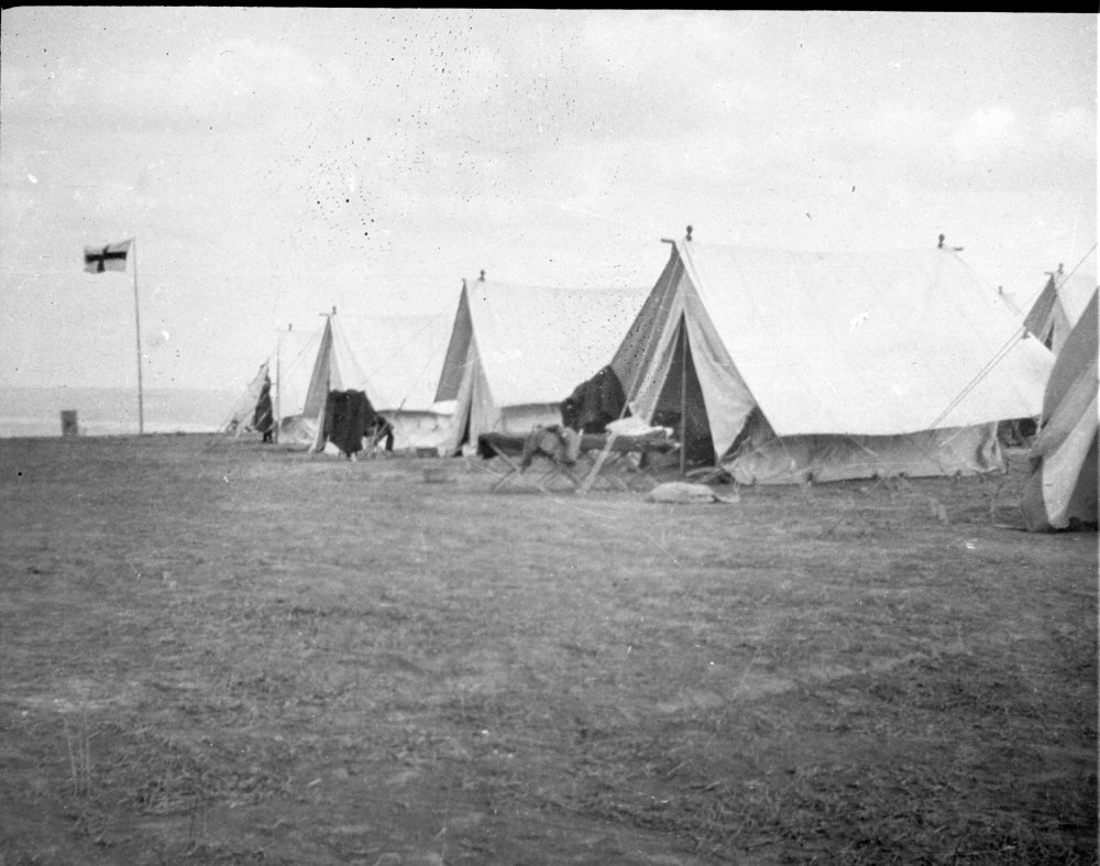 A row of tents pitched by the Scottish Women's Hospitals group, Romania.