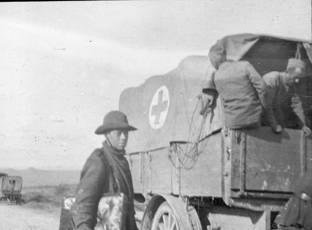 Red Cross ambulance with the Scottish Women's Hospitals group, Romania.