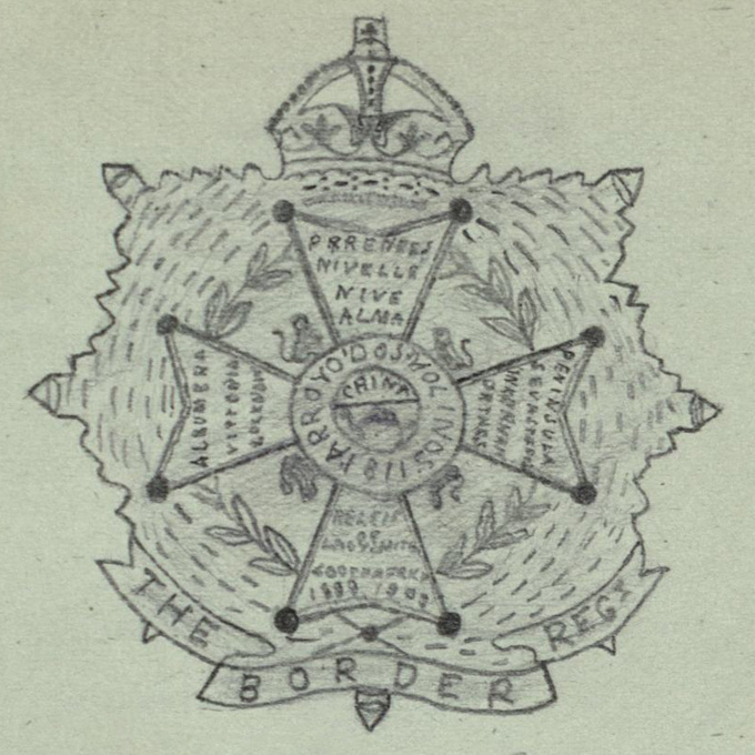 7th (Service) Battalion Border Regiment drawn by Corporal F. Jessup