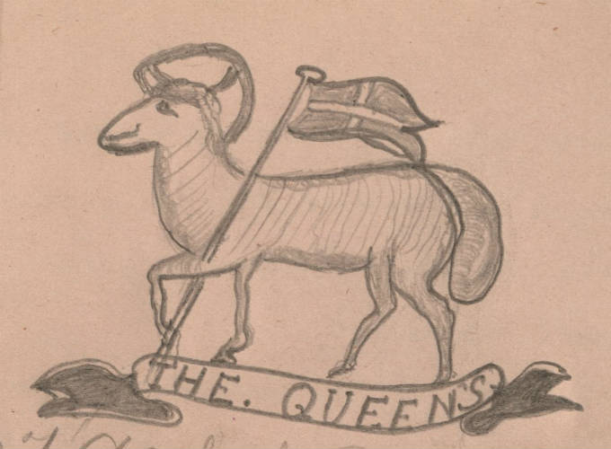 2nd Battalion, The Queen's (Royal West Surrey) Regiment drawn by T. A. Stockdale