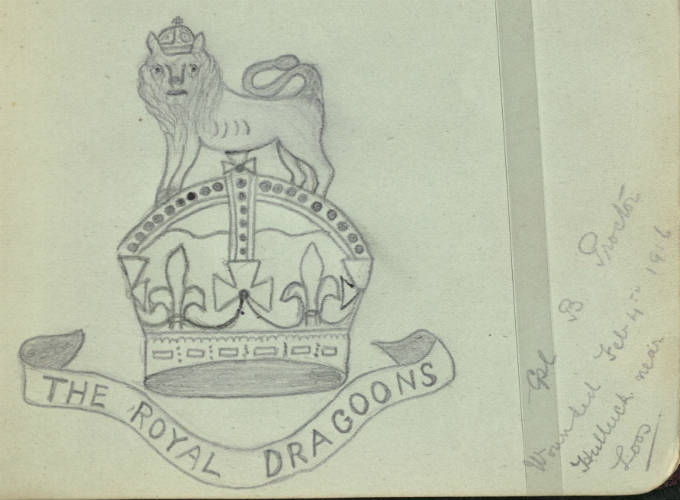 1st The Royal Dragoons Captain drawn by B. Proctor