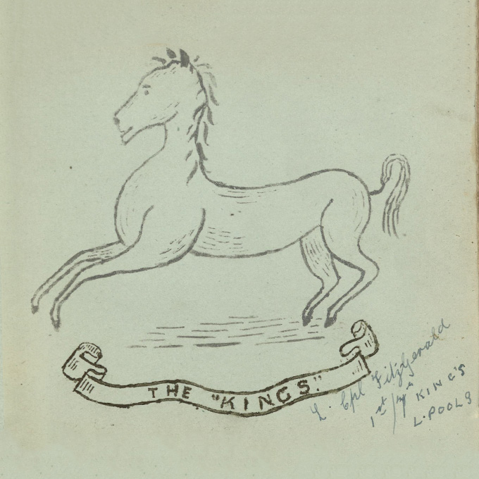 The King's Regiment (Liverpool) drawn by Lance Corporal Fitzgerald