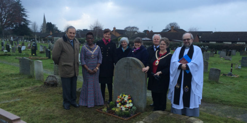 RCN President Cecilia Anim and other dignitaries laying a wreath on RCN founder member Dame Sidney Browne